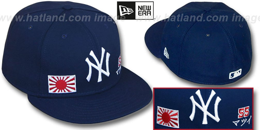 Matsui 'TRIPLE THREAT' Navy Fitted Hat by New Era