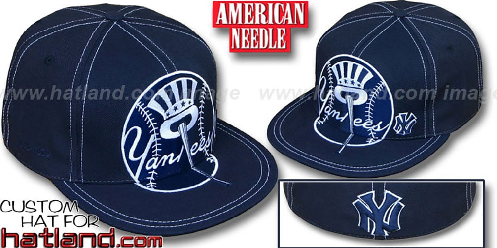 Yankees 'GETTIN BIG' Navy Fitted Hat by American Needle