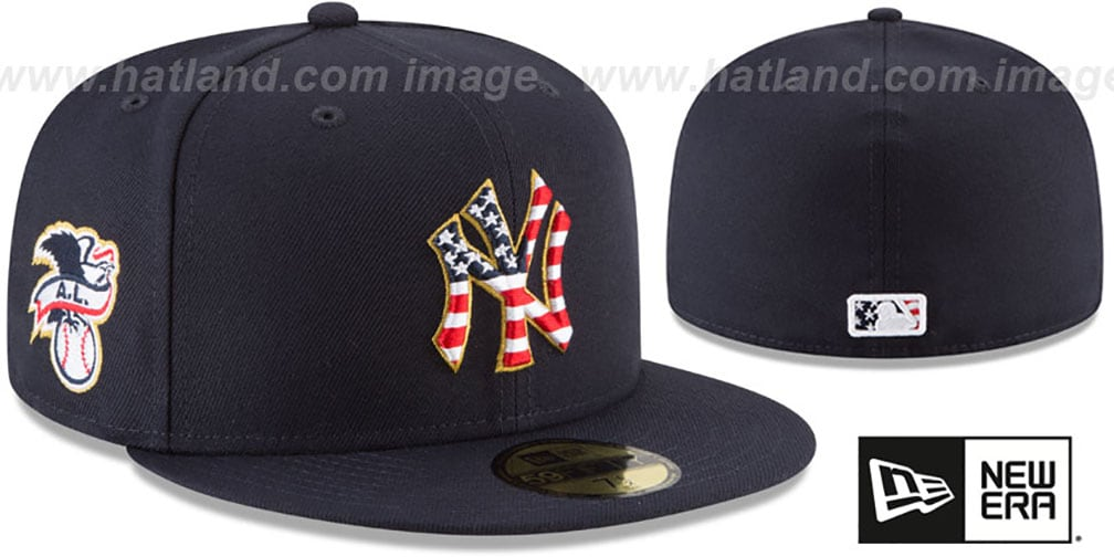 best sneakers 9ad36 be178 ... New Era. Yankees  2018 JULY 4TH STARS N STRIPES  Navy Fitted Hat by ...