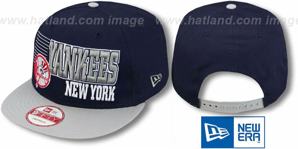 Yankees '2T BORDERLINE SNAPBACK' Navy-Grey Hat by New Era
