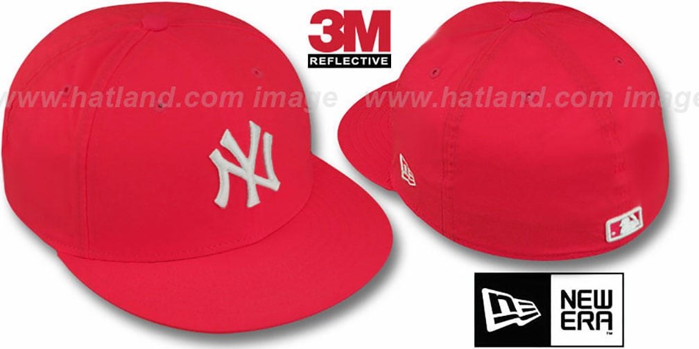 Yankees '3M REFLECTIVE' Red Fitted Hat by New Era