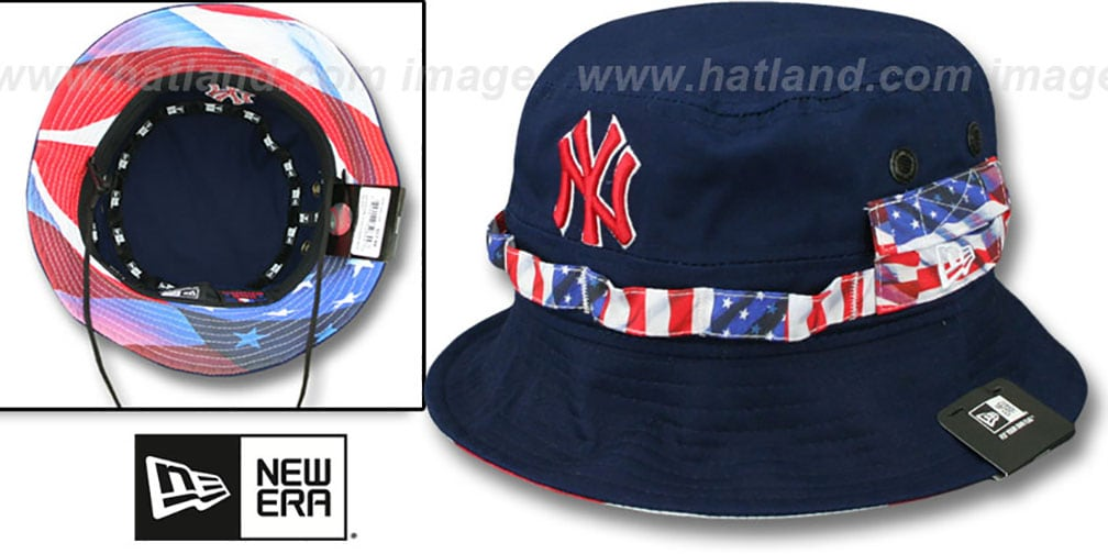 Yankees 'ADVENTURE FLAG' Navy Bucket Hat by New Era