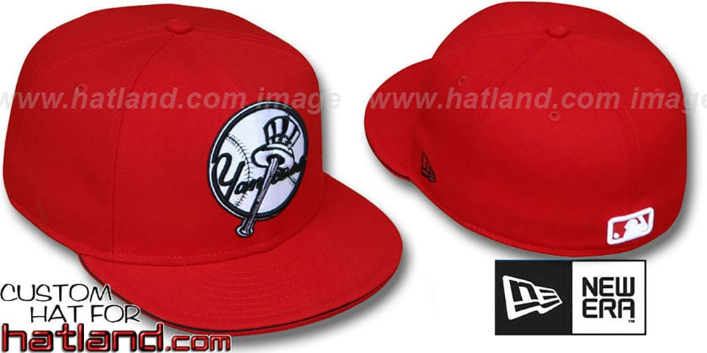Yankees ALTERNATE 'BIG-ONE' Red-Black Fitted Hat by New Era