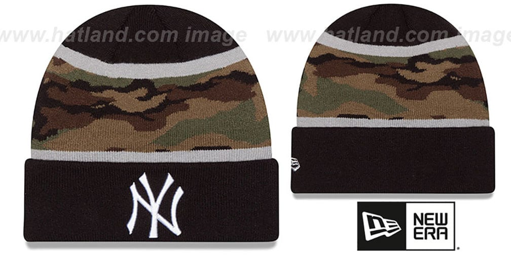 Yankees 'ARMY CAMO FILLZ' Knit Beanie Hat by New Era