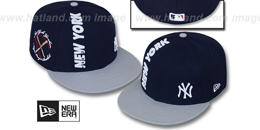 Yankees 'BEELINE' Navy-Grey Fitted Hat by New Era