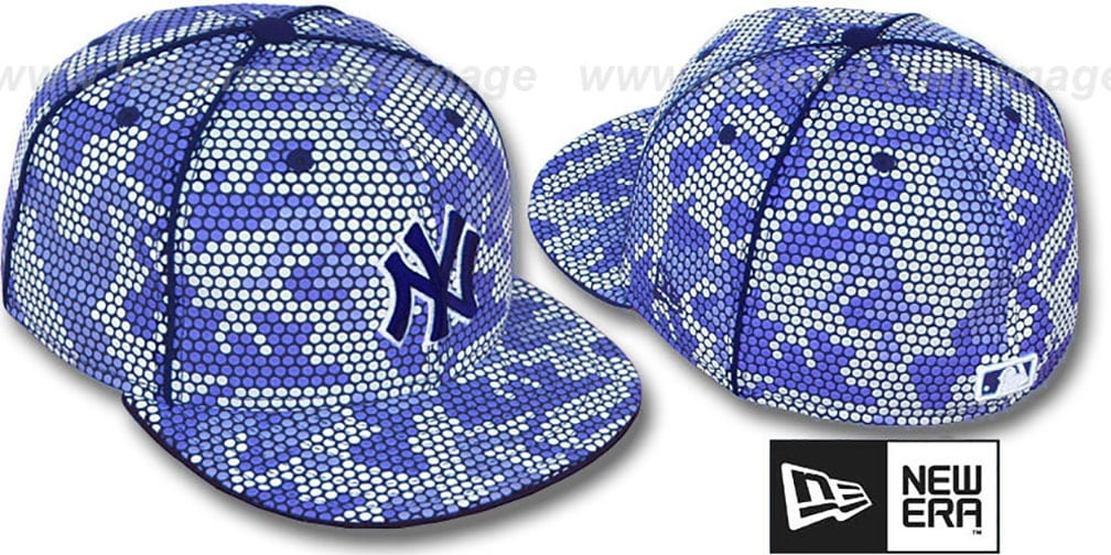 Yankees 'BLUE DOT-CAMO' Fitted Hat by New Era