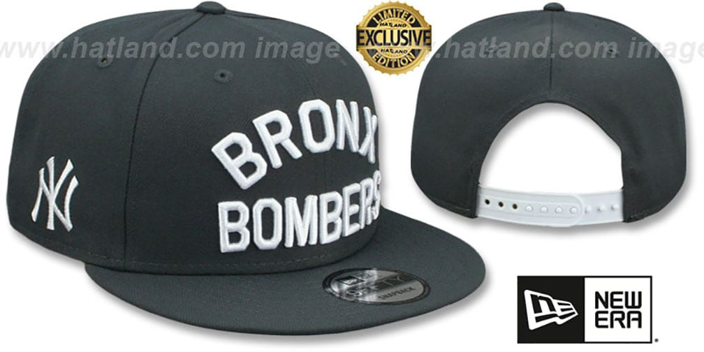 Yankees 'BRONX BOMBERS' SNAPBACK Charcoal Grey Hat by New Era