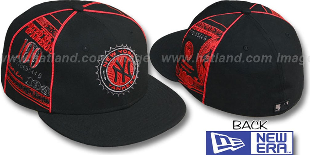 Yankees 'C-NOTE' Black-Red Fitted Hat by New Era
