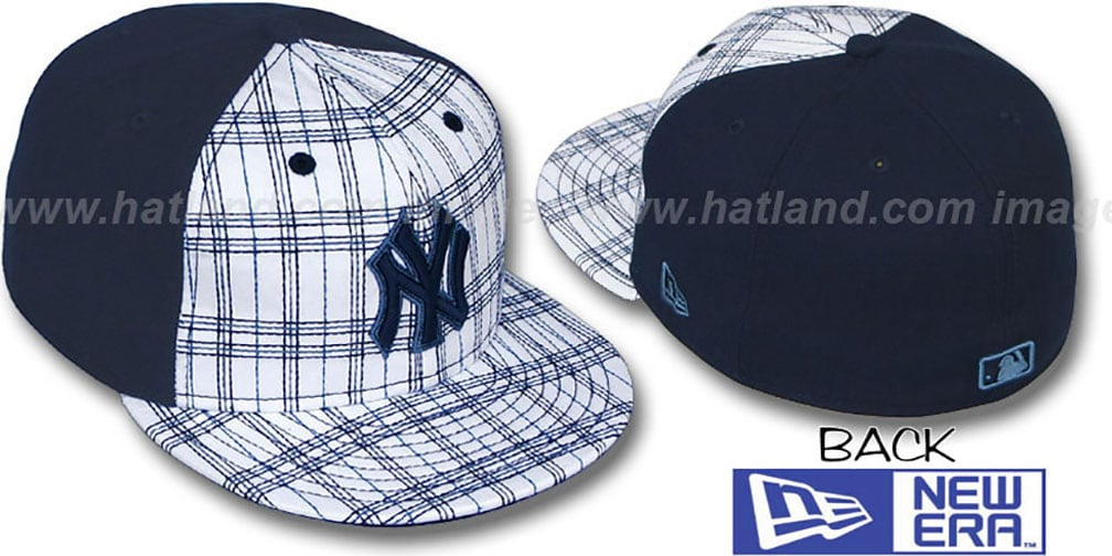 Yankees 'CHAINSAW' White-Navy Fitted Hat by New Era