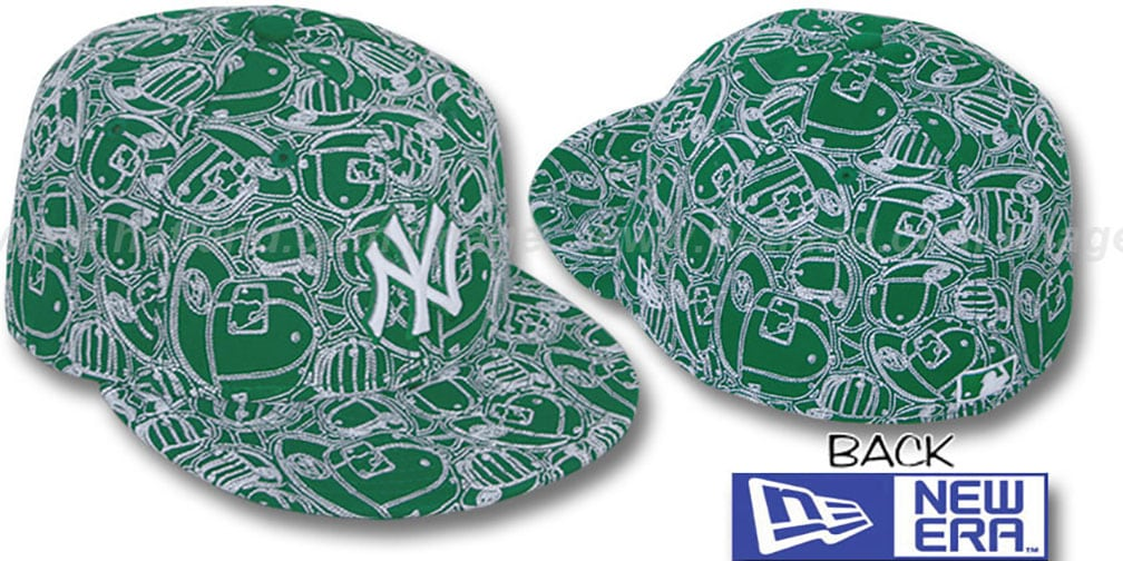 Yankees 'CHAOS PUFFY' Kelly-White Fitted Hat by New Era