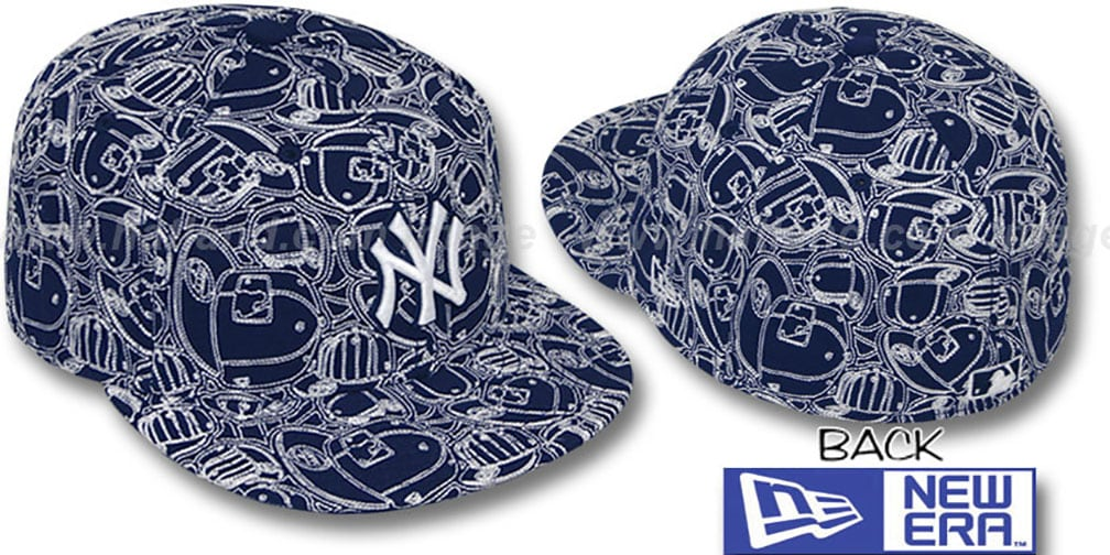 Yankees 'CHAOS PUFFY' Navy-White Fitted Hat by New Era