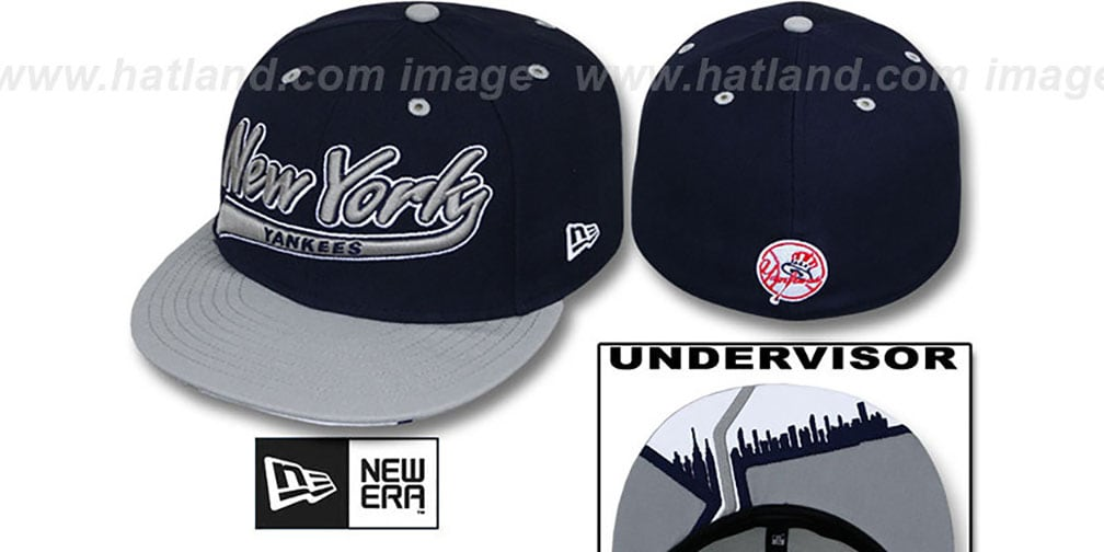 Yankees 'CITY-SCRIPT' Navy-Grey Fitted Hat by New Era