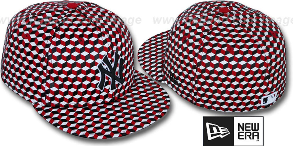 Yankees 'CUE-BERT' Red-Black-White Fitted Hat by New Era