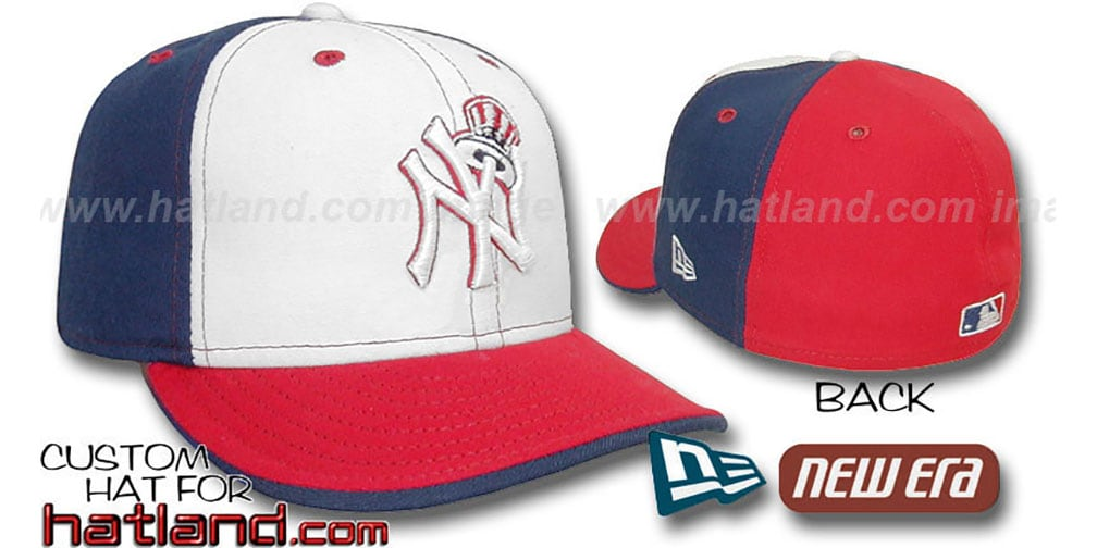 Yankees 'DECEPTOR PINWHEEL' White-Navy-Red Fitted Hat by New Era