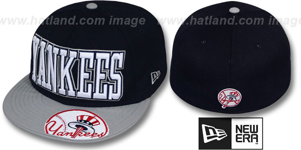 Yankees 'EPIC WORD' Navy-Grey Fitted Hat by New Era