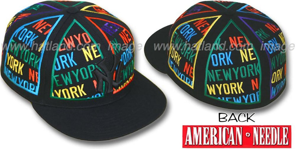 Yankees 'ETERNAL ALL-OVER' Black Fitted Hat by American Needle