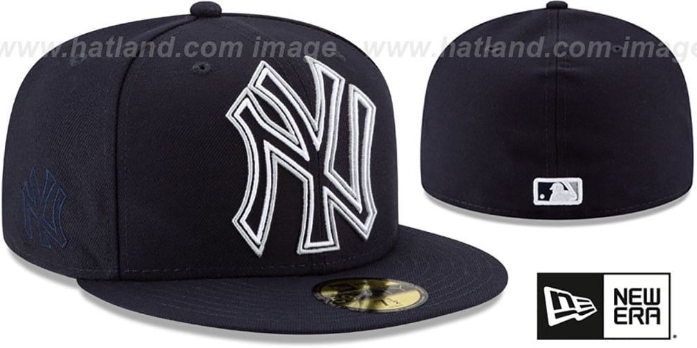 Yankees 'FRAME-FRONT' Navy Fitted Hat by New Era