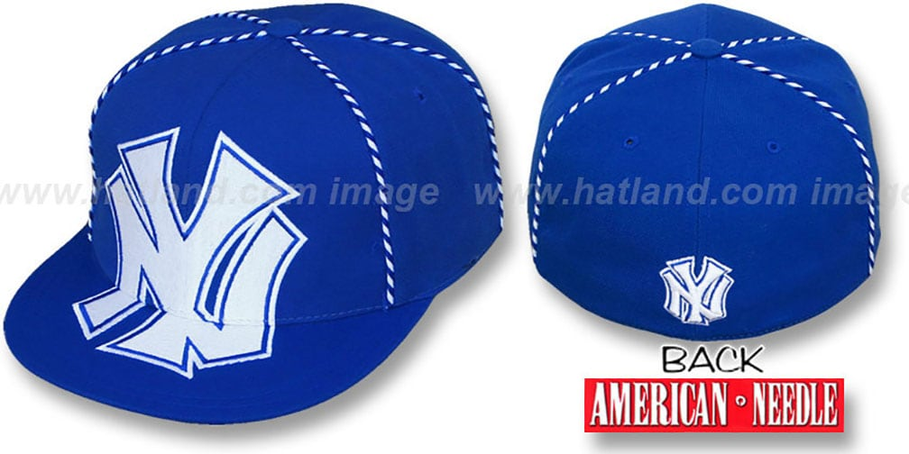 Yankees 'GETTIN-WEAVE' Royal Fitted Hat by American Needle