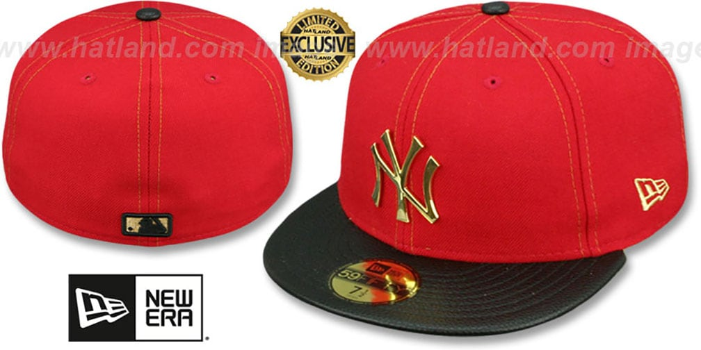59ed56814a7 YankeesHats.com - New York Yankees Hats - Yankees  GOLD METAL-BADGE ...