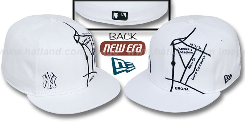 Yankees 'GPS' White-Black Fitted Hat by New Era