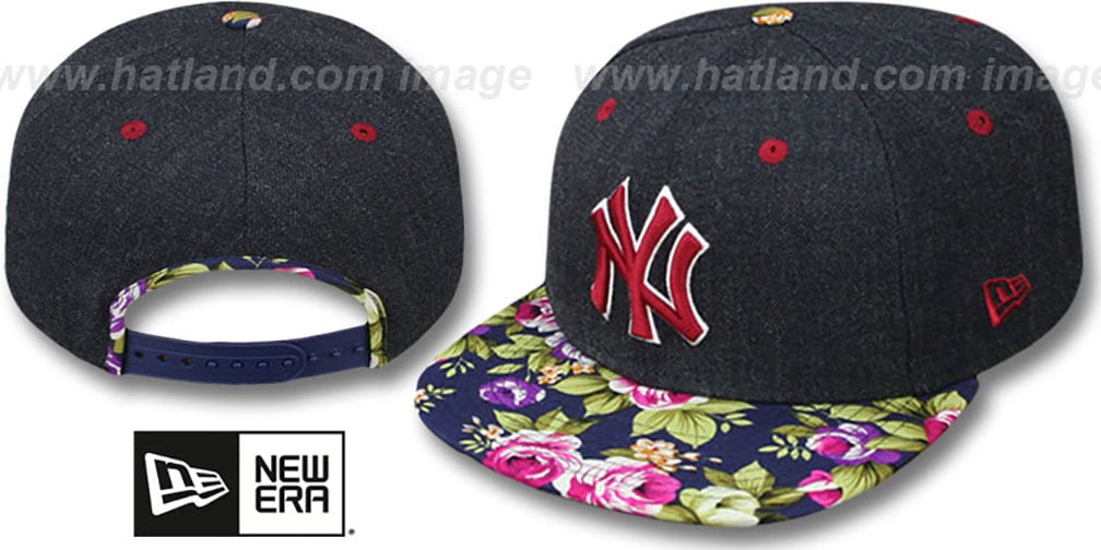 Yankees 'HEATHER BLOOM SNAPBACK' Navy Hat by New Era