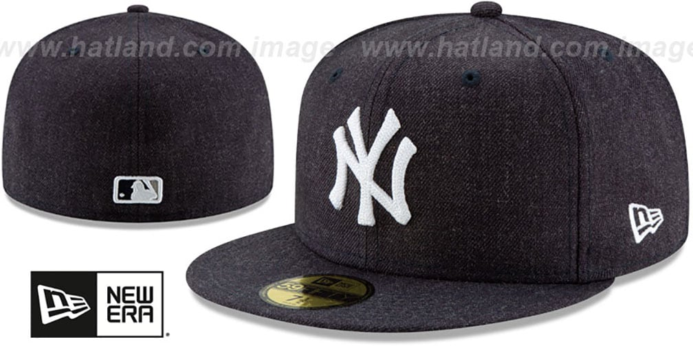 Yankees 'HEATHER-CRISP' Navy Fitted Hat by New Era