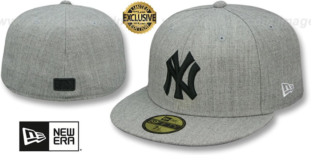 Yankees 'HEATHER-POP' Light Grey Fitted Hat by New Era