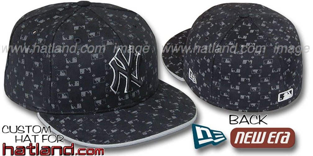 Yankees 'MLB FLOCKING' Black Fitted Hat by New Era