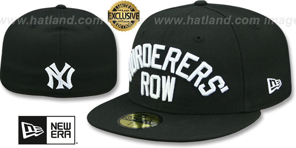 Yankees 'MURDERERS ROW' Black Fitted Hat by New Era