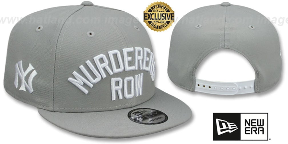 Yankees 'MURDERERS ROW' SNAPBACK Light Grey Hat by New Era