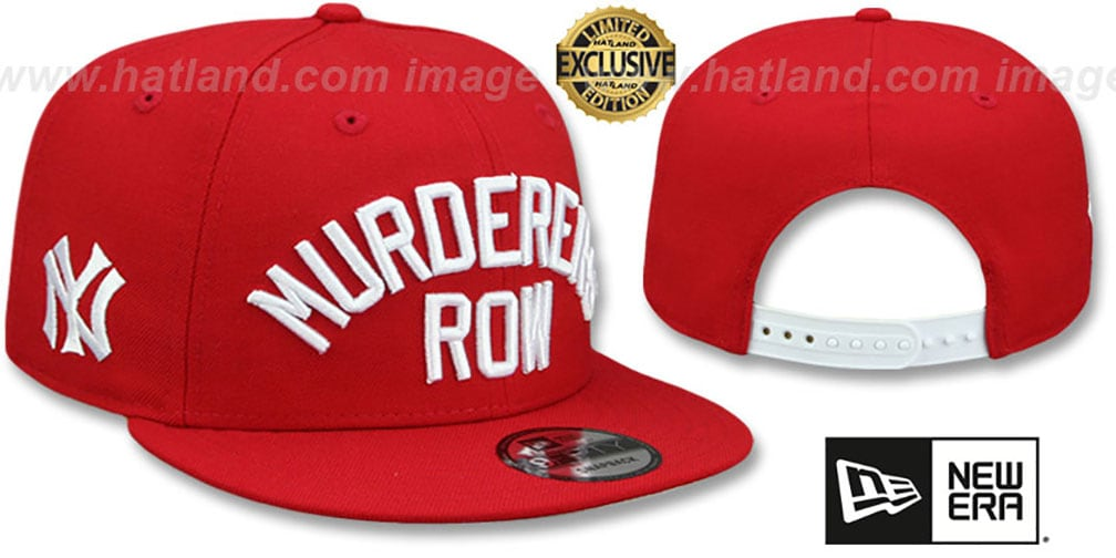 Yankees 'MURDERERS ROW' SNAPBACK Red Hat by New Era