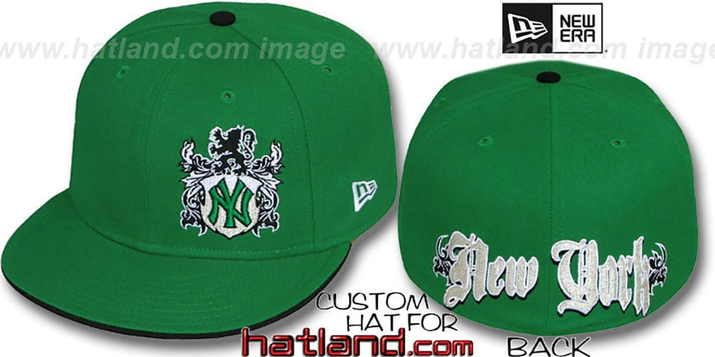 Yankees 'OLD ENGLISH SOUTHPAW' Green-Black Fitted Hat by New Era