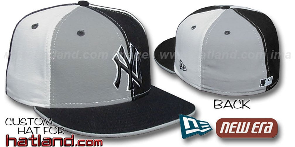 Yankees 'PINWHEEL' Grey-Black-White Fitted Hat by New Era