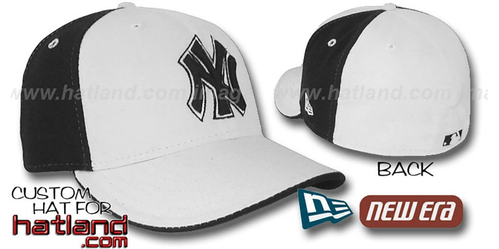 Yankees 'PINWHEEL' White-Black Fitted Hat by New Era