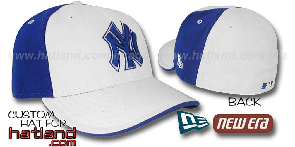 Yankees 'PINWHEEL' White-Royal Fitted Hat by New Era
