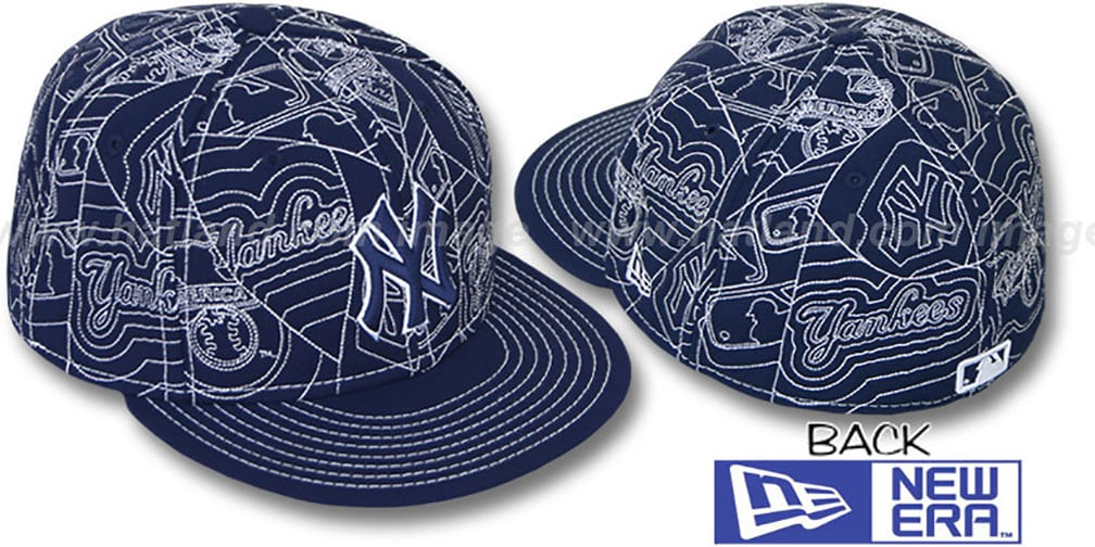 Yankees 'PUFFY REMIX' Navy-White Fitted Hat by New Era