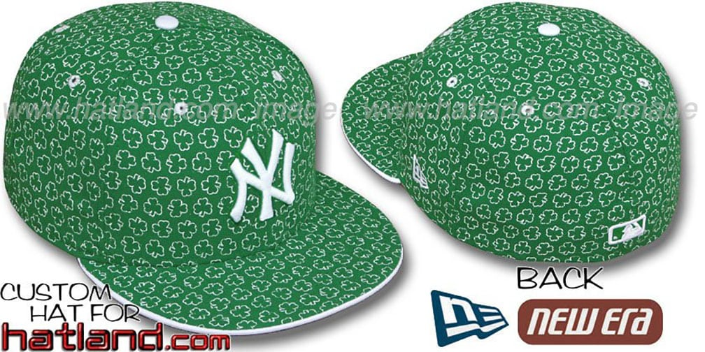 Yankees 'ST PATS FLOCKING' Kelly Fitted Hat by New Era