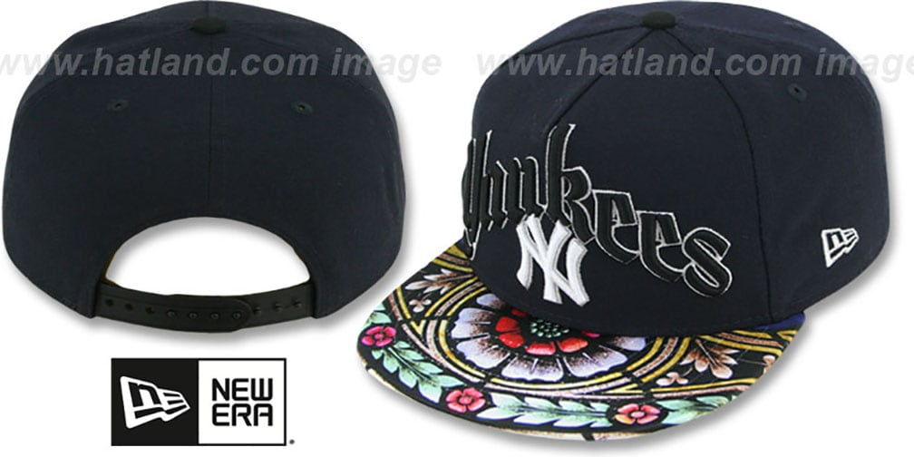 Yankees 'STAIN GLASS SNAPBACK' Navy Hat by New Era