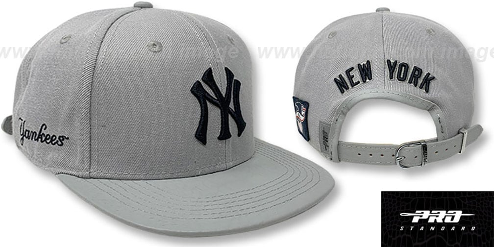 Yankees 'TEAM-BASIC STRAPBACK' Grey Hat by Pro Standard
