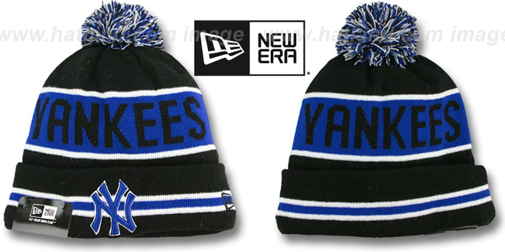 Yankees 'THE-COACH' Black-Royal Knit Beanie Hat by New Era