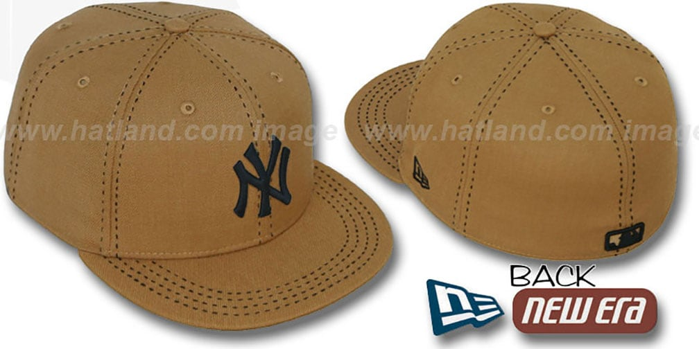 Yankees 'WHEAT PURSE STITCH' Fitted Hat by New Era
