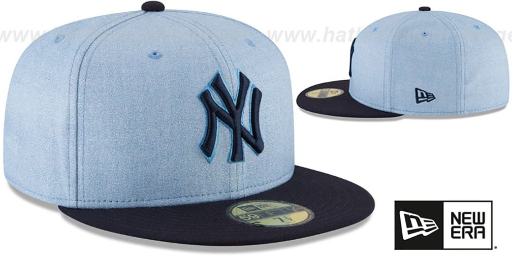Yankees '2018 FATHERS DAY' Sky-Navy Fitted Hat by New Era