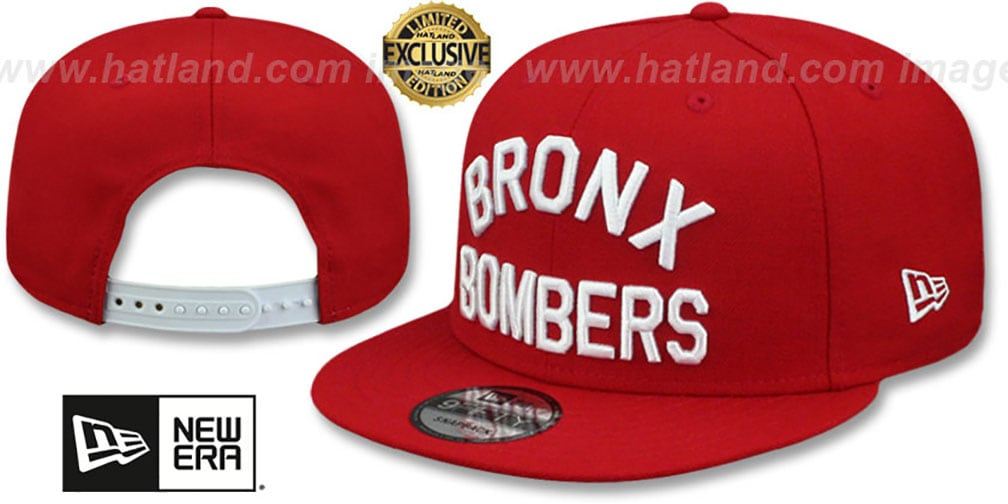 Yankees 'BRONX BOMBERS' SNAPBACK Red Hat by New Era