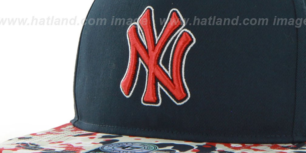 Yankees 'DRYTOP STRAPBACK' Navy Hat by Twins 47 Brand