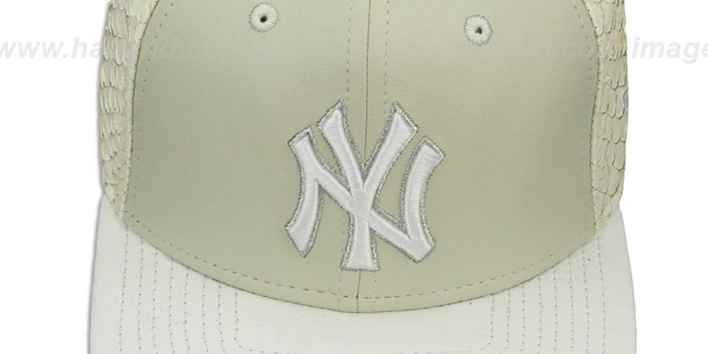 Yankees 'FISHSCALE LEATHER STRAPBACK' Hat by New Era