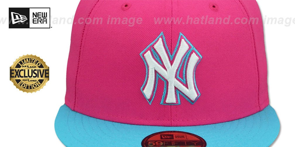 Yankees 'MIAMI VICE' Beetroot-Blue Fitted Hat by New Era