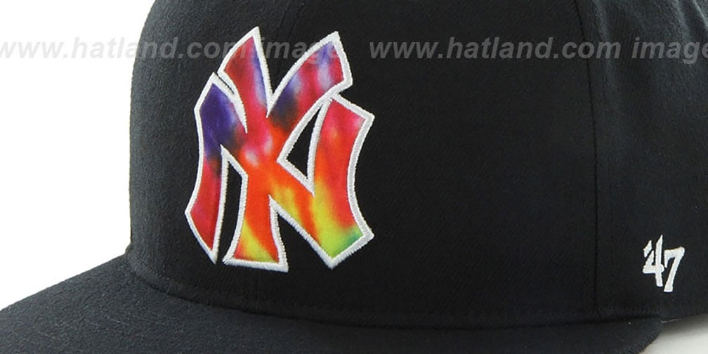 Yankees 'SHAKEDOWN' Black Fitted Hat by 47 Brand