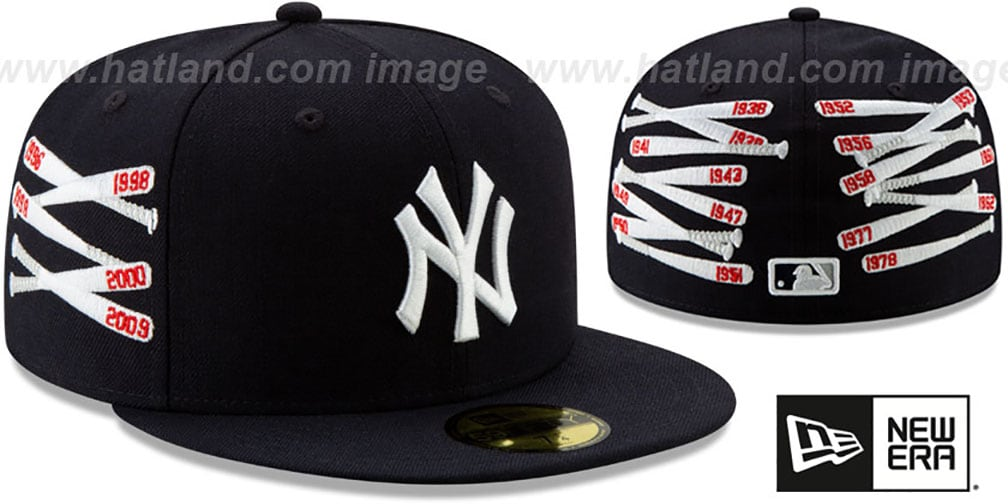 Yankees 'SPIKE LEE' CLUSTER-BATS Navy Fitted Hat by New Era