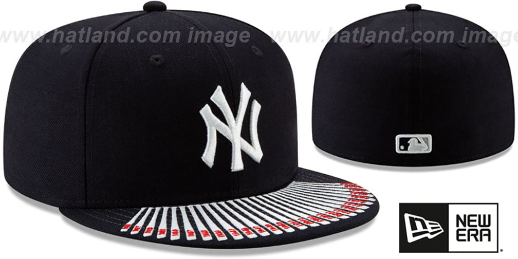 Yankees 'SPIKE LEE' VISOR-BATS Navy Fitted Hat by New Era