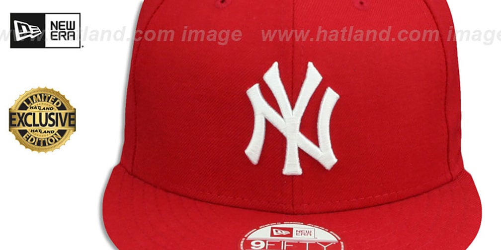 Yankees 'TEAM-BASIC SNAPBACK' Red-White Hat by New Era